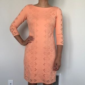 Antonio Melani 3/4 Length Sleeve Dress - Peach